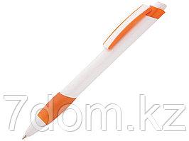 Ручка шариковая Соната, белый/оранжевый