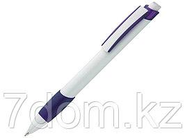 Ручка шариковая Соната, белый/фиолетовый
