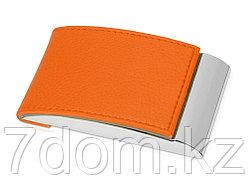 Визитница, оранжевый/серебристый