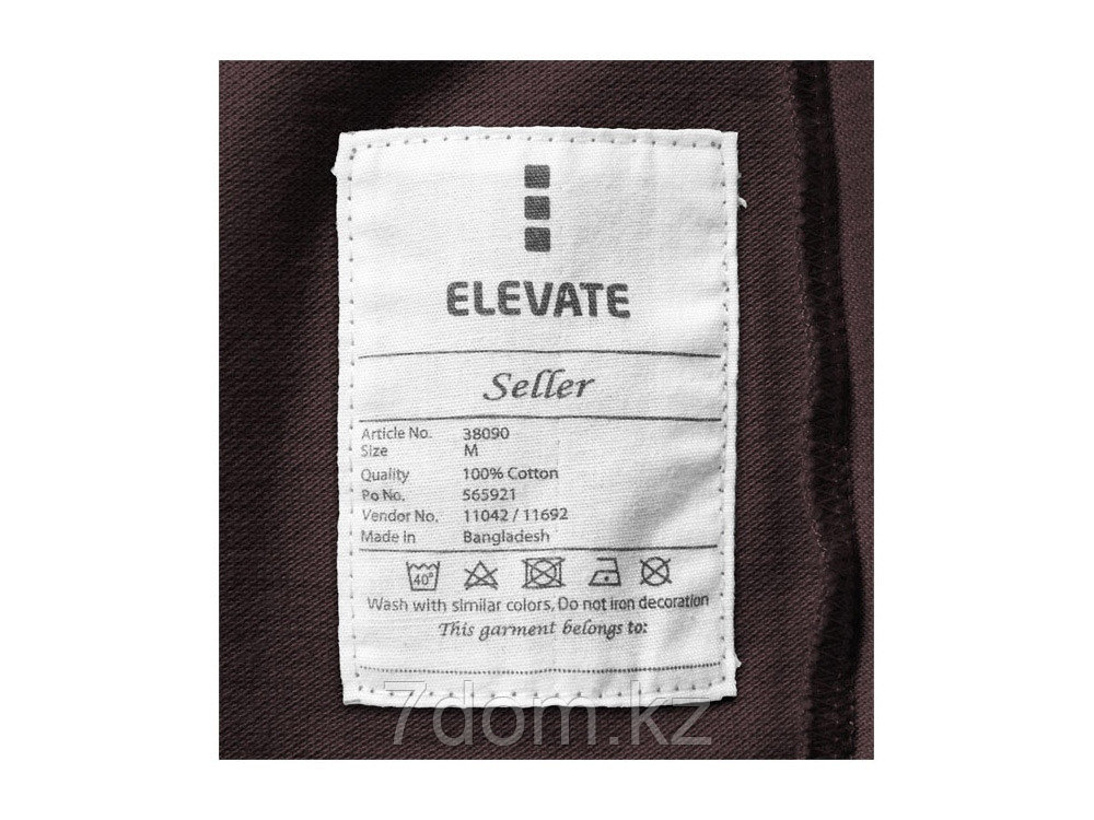 Рубашка поло Seller мужская, шоколадный коричневый - фото 6