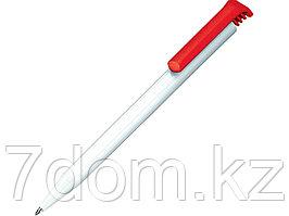 Ручка шариковая Senator модель Super-Hit Basic Polished, белый/красный