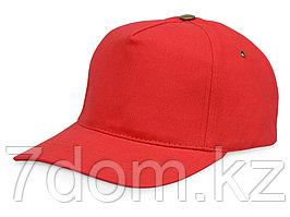 Бейсболка New York  5-ти панельная  с металлической застежкой и фурнитурой, красный