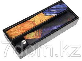 Набор: платок, складной зонт Ван Гог. Терраса кафе ночью, темно-синий/оранжевый