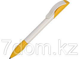 Ручка шариковая Senator модель Hattrix Basic, белый/желтый