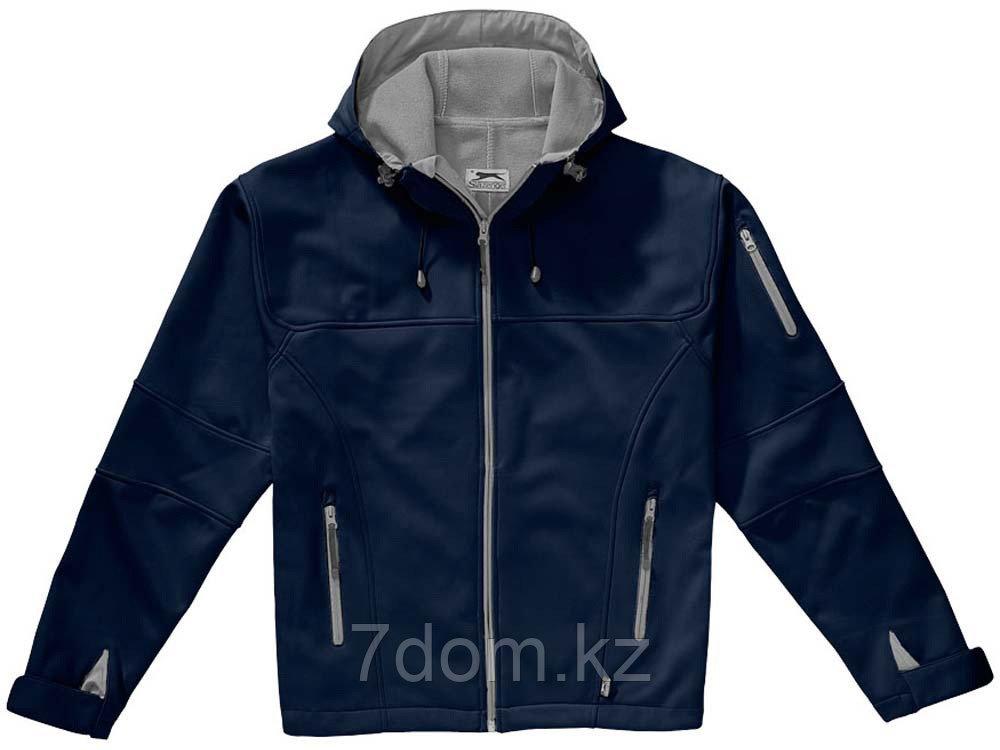 Куртка софтшел Match мужская, темно-синий/серый - фото 5