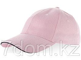 Бейсболка Challenge 6-ти панельная, розовый/темно-синий