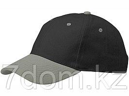 Бейсболка Grip, черный/серый
