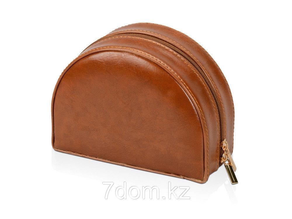 Шкатулка для драгоценностей с дорожным футляром, коричневый - фото 3