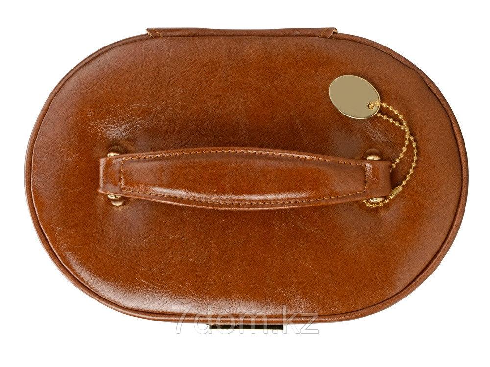 Шкатулка для драгоценностей с дорожным футляром, коричневый - фото 6