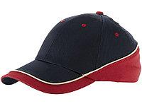 Бейсболка Draw 6-ти панельная, темно-синий/красный