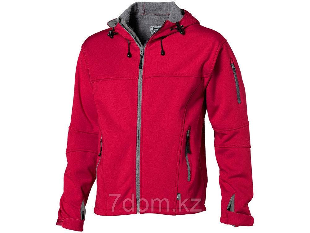 Куртка софтшел Match мужская, красный/серый - фото 1