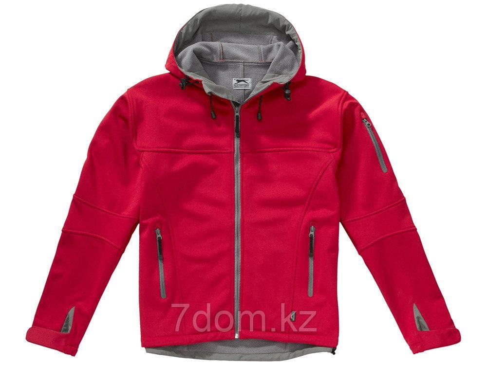 Куртка софтшел Match мужская, красный/серый - фото 3