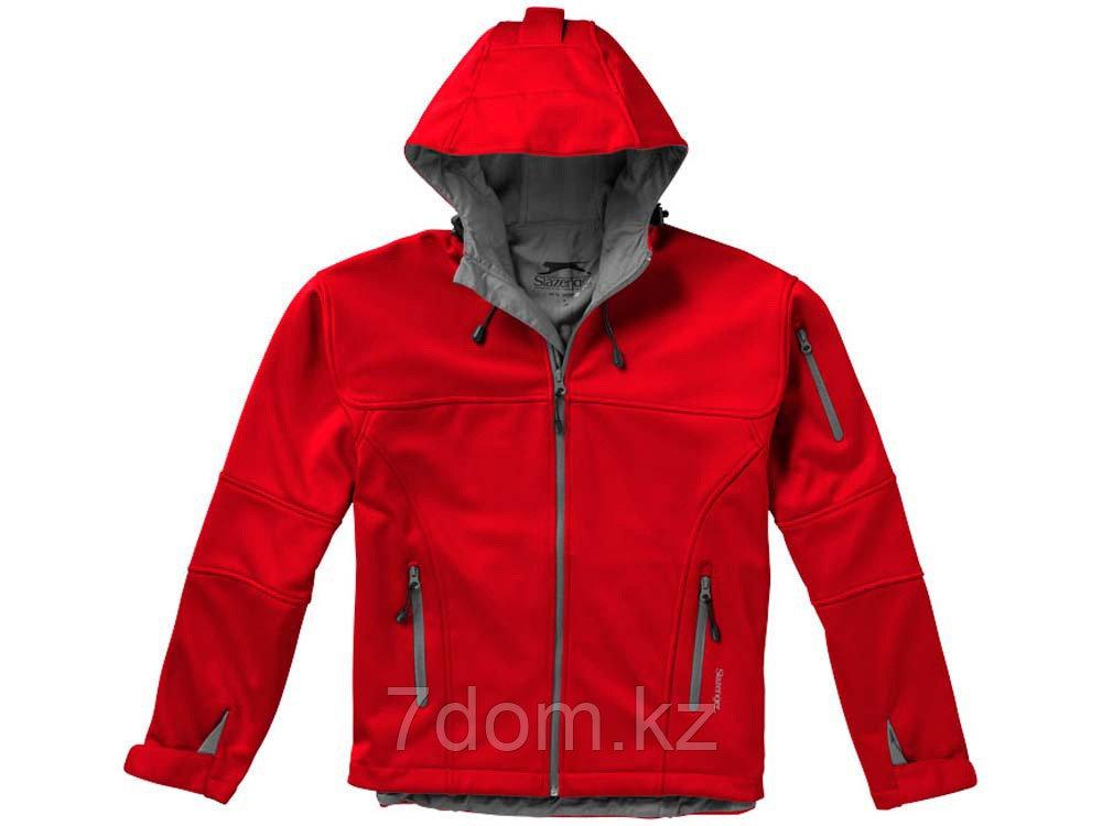 Куртка софтшел Match мужская, красный/серый - фото 5