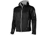 Куртка софтшел Match мужская, черный/серый