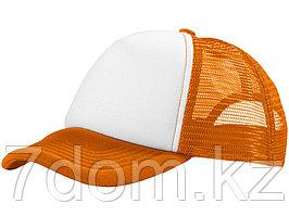 Бейсболка Trucker, оранжевый/белый