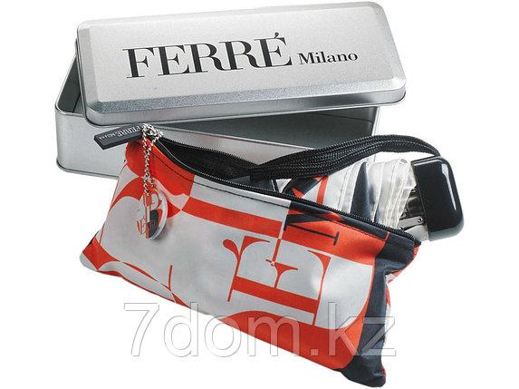 Зонт складной Ferre, механика черный/красный, фото 2