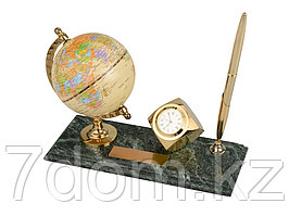 Настольный прибор Международный бизнес, золотистый/зеленый