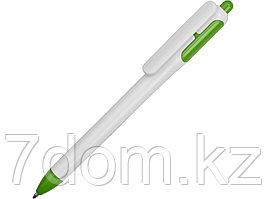 Ручка шариковая с белым корпусом и цветными вставками, белый/зеленый