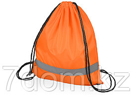 Рюкзак Россел, оранжевый с черными шнурками