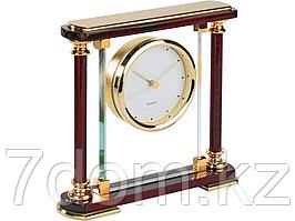 Часы Эдинбург, золотистый/красное дерево