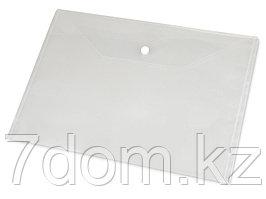 Папка-конверт A4 с кнопкой 0.18 мм, прозрачный