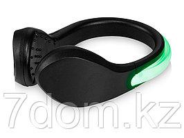 Светодиодный клип для обуви Usain, черный/светло-зеленый