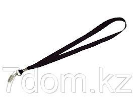 Шнурок с поворотным зажимом Igor, черный