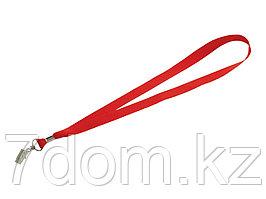 Шнурок с поворотным зажимом Igor, красный