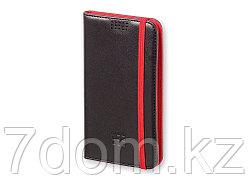 Чехол-книжка универсальный двухцветный, L, черный/красный