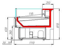 Холодильная витрина Carboma ВХСл-0,94 Carboma GC110 (GC110 SP 0,94-2)