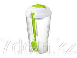 Набор для салата Shakey: салатник, вилка, контейнер для соуса