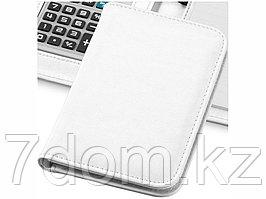 Блокнот А6 Smarti с калькулятором, белый