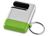 Подставка-брелок для мобильного телефона GoGo, серебристый/зеленый