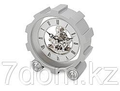 Часы настольные Шестеренки, серебристый