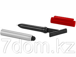 Ручка-стилус шариковая Robo с очистителем экрана, красный