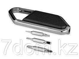 Набор отверток с карабином Ifix, черный/серебристый