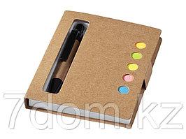 Набор стикеров Reveal с ручкой и блокнотом А7, светло-коричневый
