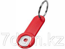 Брелок-держатель для монет Shoppy, красный