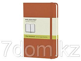 Записная книжка Moleskine Classic (нелинованный) в твердой обложке, Pocket (9x14см),оранжевый коралл