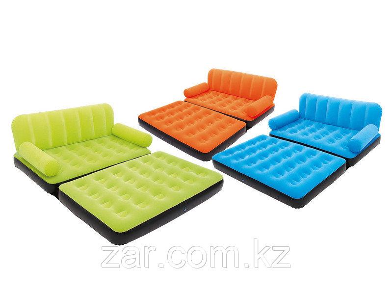 Надувной диван-трансформер Bestway 67356 152х188х64см эл.насос 220В, 3 цвета