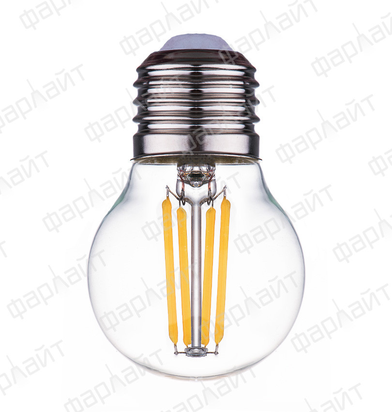 Лампа светодиодная нитевидная прозрачная шар G45 7Вт 4000К Е27 Фарлайт