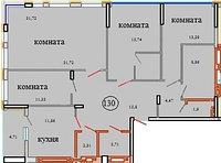 4 комнатная квартира в ЖК Кристалл 2 130 м², фото 1