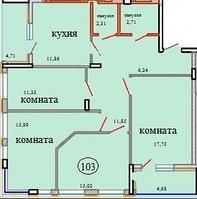 4 комнатная квартира в ЖК Кристалл 2 103 м², фото 1