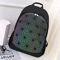 Городской рюкзак светоотражающий геометрический 0212 фиолетовый