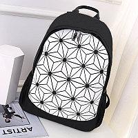 Городской рюкзак светоотражающий геометрический 0212 белый