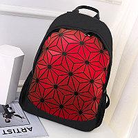 Городской рюкзак светоотражающий геометрический 0212 красный