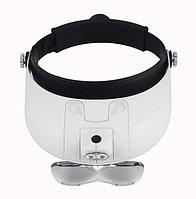 Бинокулярные очки-лупа MG81001-G с подсветкой 2 LED