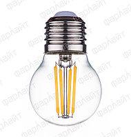 Лампа светодиодная нитевидная прозрачная шар G45 7Вт 2700К Е27 Фарлайт