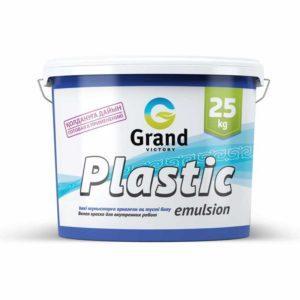 Краска водоэмульсионная  Plastic emulsion эконом-класс 5кг