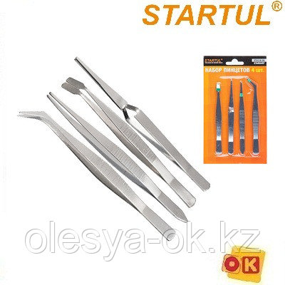 Набор пинцетов 4пр. STARTUL STANDART (ST9110-04)